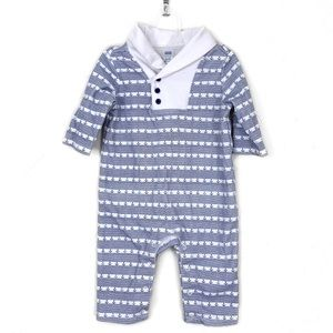 Janie and Jack Nautical Long Sleeve One Piece Suit